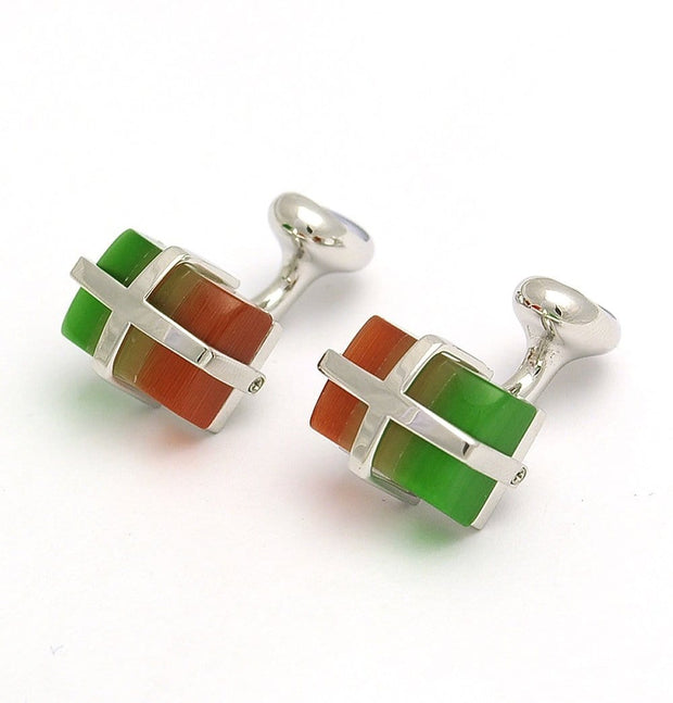 Bl Cufflinks Cats Eye Multicolour - Mark marengo