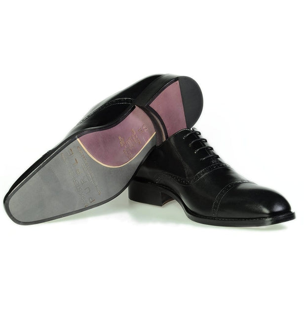 Mark Stephen Leather Half-Brogue Shoes Black