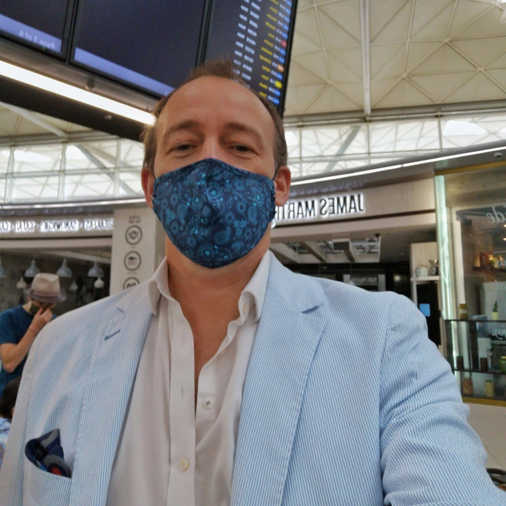 Blue Wave Face Mask - MARK STEPHEN