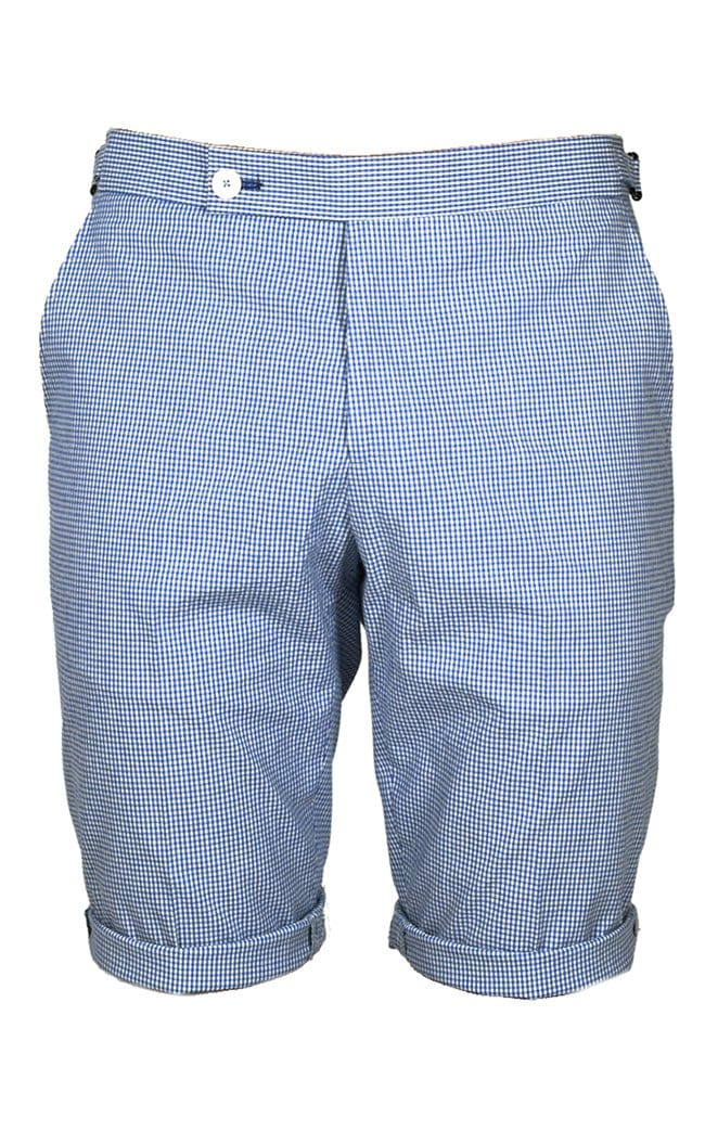 Blue Check Shorts