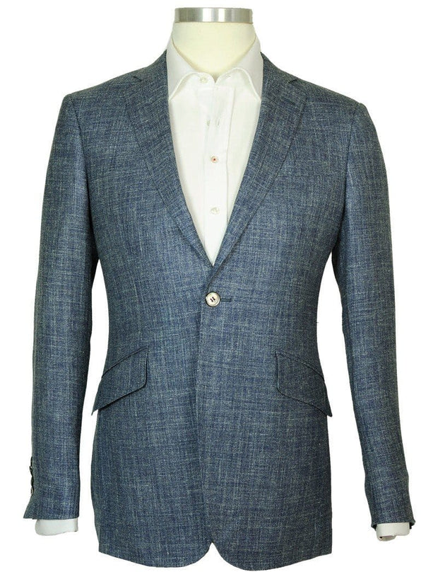 Blue Linen Jacket - Mark marengo