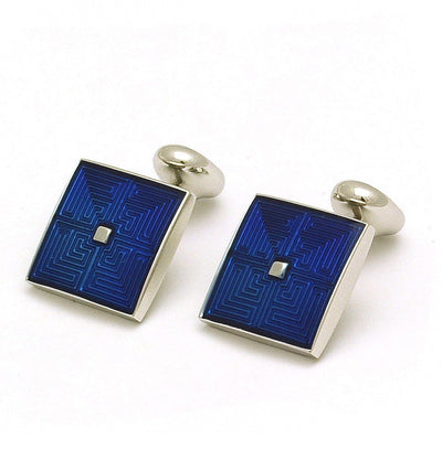 Maze Blue Cufflinks - Mark marengo
