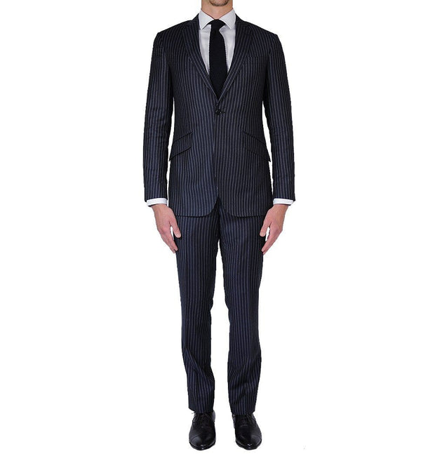 Navy Pinstripe Suit - Mark marengo
