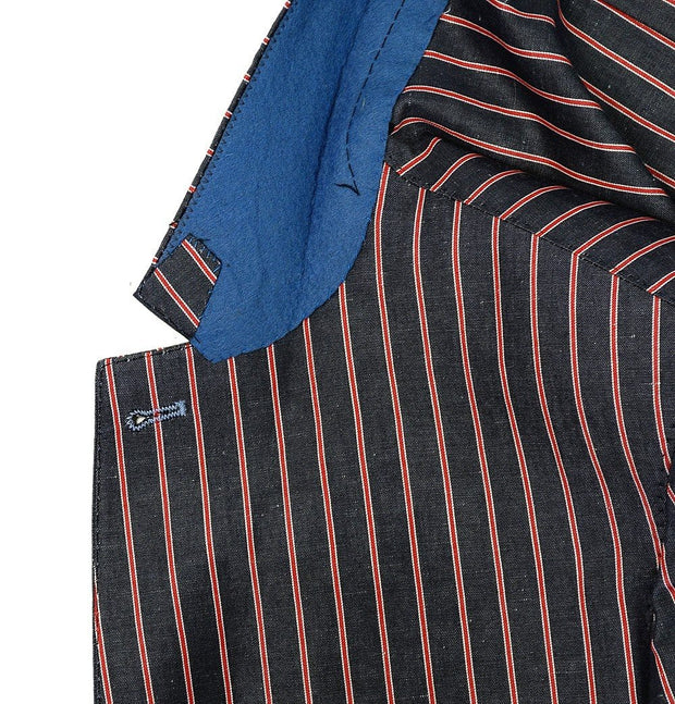 Blue Red Striped Blazer - Mark marengo