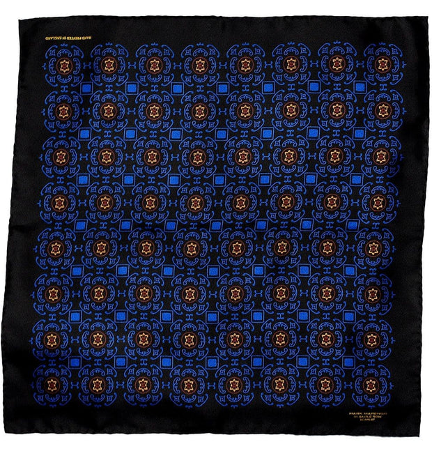Black Pocket Square - Byzantine - Mark marengo