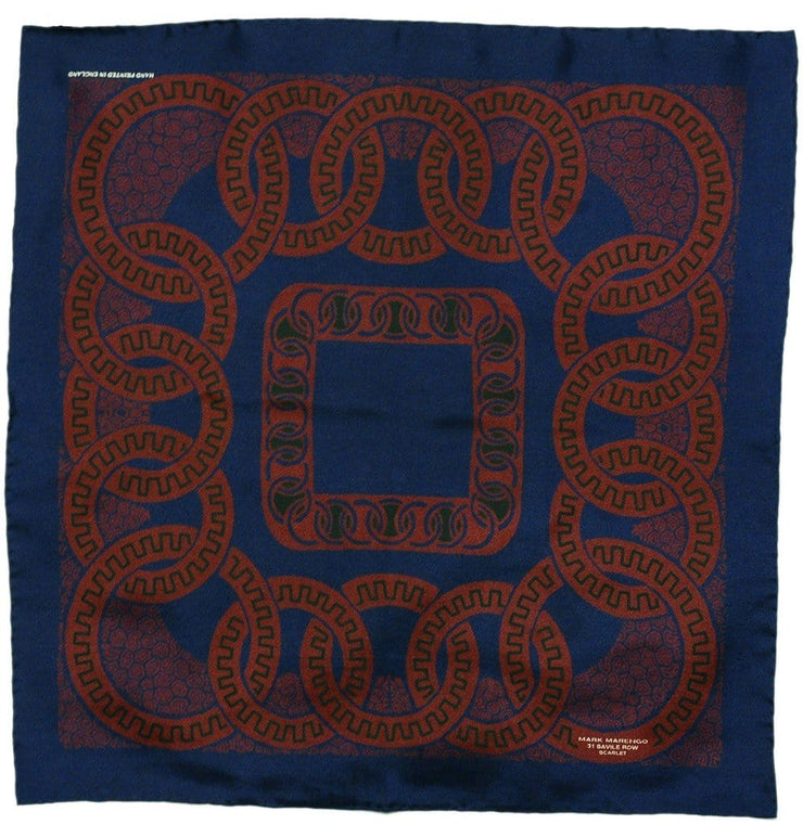 Deep Blue Pocket Square - Romanesque - Mark marengo