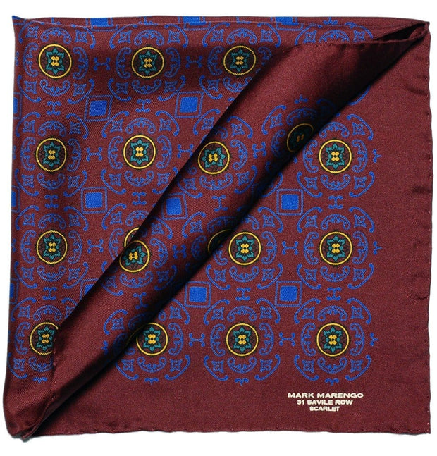 Wine Pocket Square - Byzantine