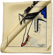 Cream Pocket Square - Flapper and Dandy - Mark marengo