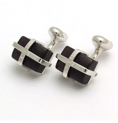 Cats Eye Purple Cufflinks - Mark marengo