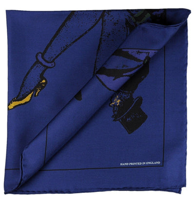 Dark Blue Pocket Square - Flapper and Dandy - Mark marengo