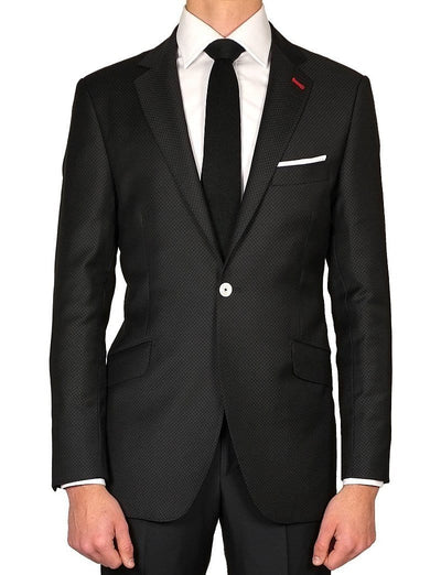 Black  Jacquard Ceremonial Suit - Mark marengo