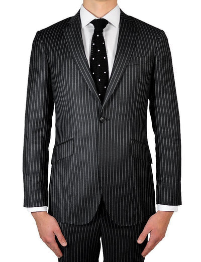 Charcoal Pinstripe Suit - Mark marengo