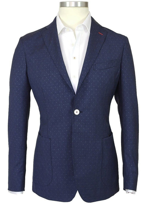 Blue Jacquard Spot Jacket - Mark marengo