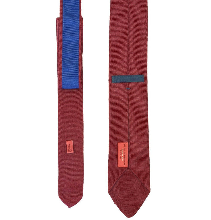 Skinny Knitted Tie - Red - Mark marengo