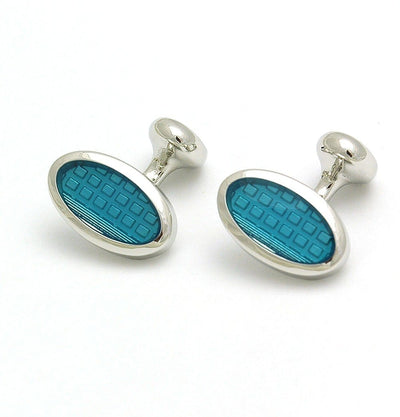 Turquoise Oval Cufflinks