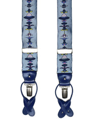 Light Blue Art Nouveau Braces