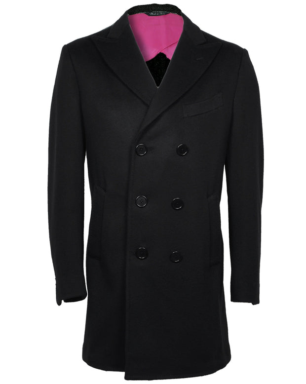 Dark Navy Short Overcoat