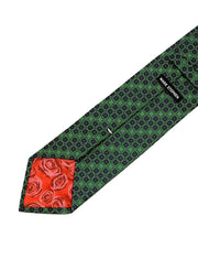 Mark Stephen Green Geometric Plain Tie