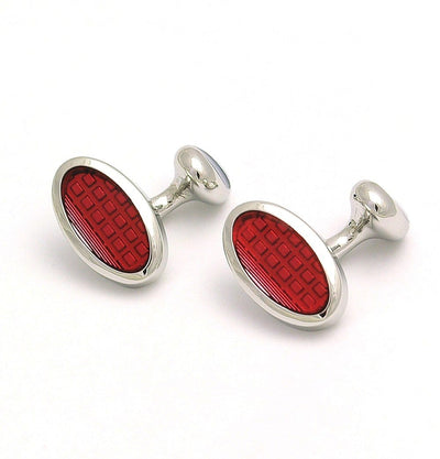 Red Oval Cufflinks - Mark marengo