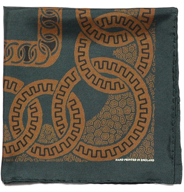Green Pocket Square - Romanesque - Mark marengo