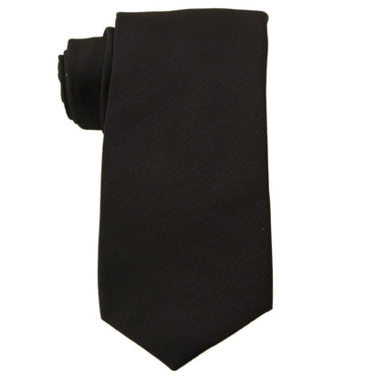 Mark Stephen Black Twill Tie