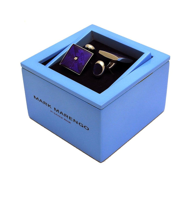 Cufflinks Maze Purple