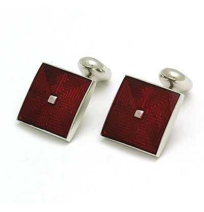 Cufflinks Maze Red - Mark marengo