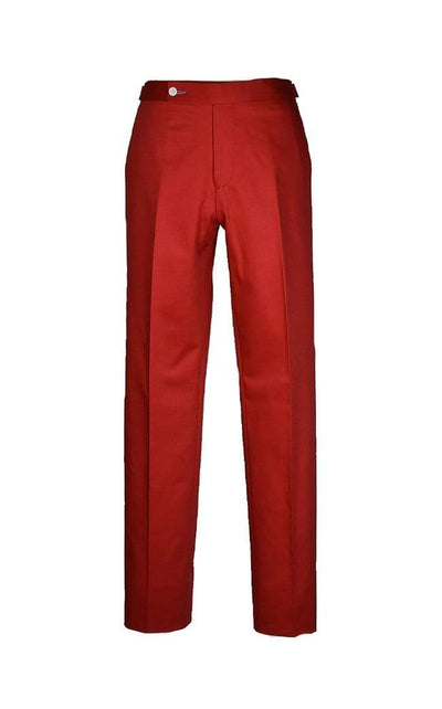 Red Gabardine Trousers