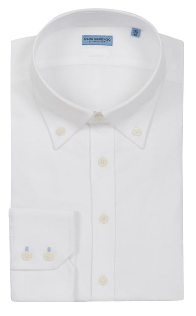 Regular Fit White Button Down Shirt