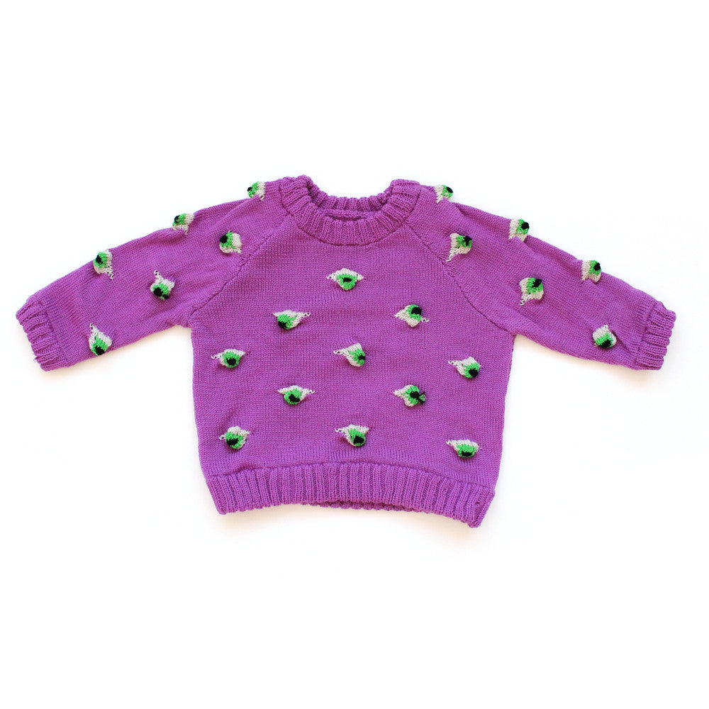 Bright Purple Eyez Sweater