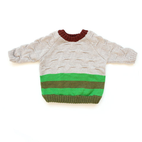 Green and Olive Transfer Sweater