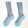Plaited Blue Cotton Sockies