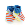 Orange and Blue Stripe Booties