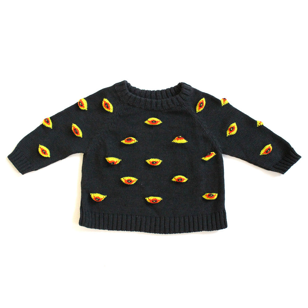 Charcoal Eyez Raglan Sweater