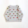 Grey Flappy Raglan Sweater