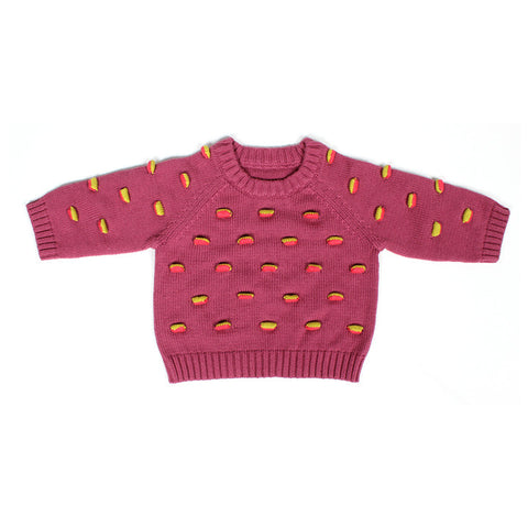 Mauve Flappy Raglan Sweater