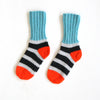 Charcoal & Grey Stripey Sockies