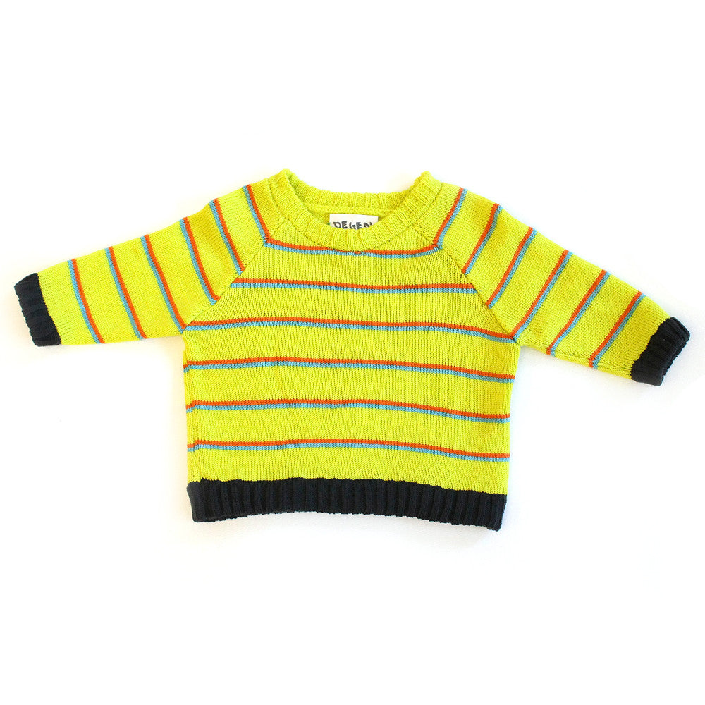 Yellow Stripe Raglan Sweater