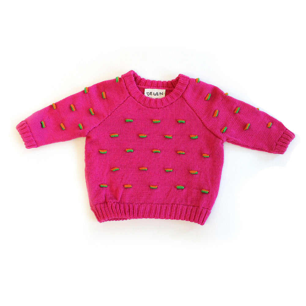 Pink Flappy Raglan Sweater