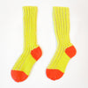 Plaited Yellow Cotton Sockies