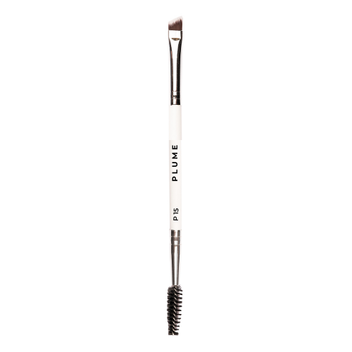 P15 - Brow Spoolie & Angled Brow 2 in 1 Brush - Plume Beauty