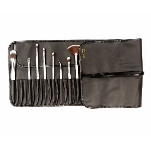 PU Leather Roll on Brush Bag (32 Brushes capacity) - Plume Beauty