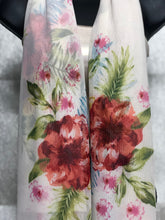 Load image into Gallery viewer, Delicate Floral Scarffie w/ Pocket Sleeves