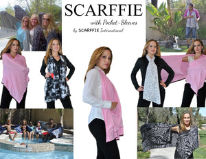 Delicate Floral Scarffie w/ Pocket Sleeves