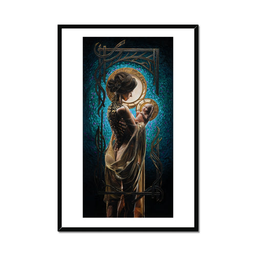 THE AWE OF MOTHERHOOD Framed Print
