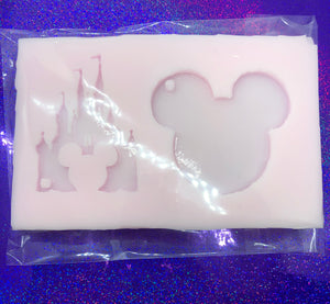 Princess Castle and Mouse Head Key Chain Silicone Mold