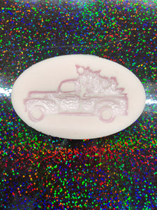 Red Truck with Tree Key Chain Silicone Mold