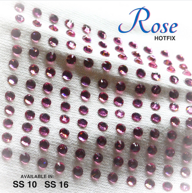 Rose Hot Fix Rhinestone