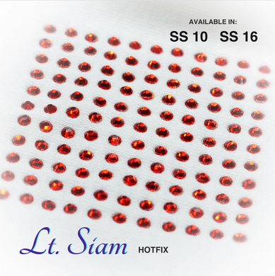 Light Siam Hot Fix Rhinestone