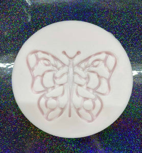 Ornate Butterfly Key Chain Silicone Mold